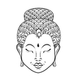 artistically Portrait of Buddha for vector image