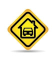 traffic sign concept icon car home vector image