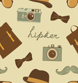 Hipster background vector image vector image