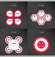 set of presentation design neon pink color vector image