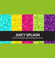hexagon pattern set juicy splash seamless vector image