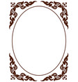 artistic octagon frame of thai pattern vector image vector image