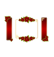 poinsettia labels 01 vector image vector image