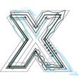 Font letter x vector image