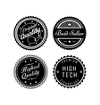 Vintage badges 2 vector image