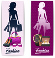 Women shopping vertical banners vector image vector image