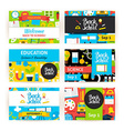 Back to School Greeting Invitation Set vector image