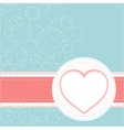 Valentines ornament with red love heart vector image vector image