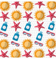 best summer sunglasses starfish sun sunblock vector image