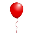 Color Glossy Red Balloon isolated on White in vector image