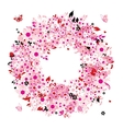 Floral wreath for your design vector image