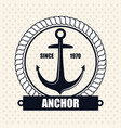icon nautical label emblem isolated vector image