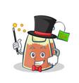 Magician tea bag character cartoon vector image