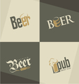 Set of beer logo design templates vector image