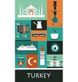 Symbols of Turkey vector image