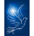 white dove in a blue sky vector image