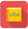 Alphabet book icon vector image