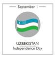 Uzbekistan Independence Day vector image