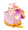 newborn girl vector image