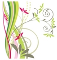 floral design element vector image vector image