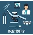 Dentist profession flat icons and symbols vector image