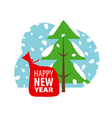 logo Christmas winter landscape vector image vector image