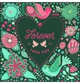 Floral heart frame made of flowers vector image