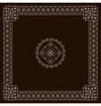 eastern style square vector image vector image
