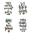 Summer holidays calligraphy greetings vector image