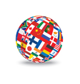 sphere with flags vector image