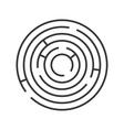Circle Ring Maze on White Background vector image