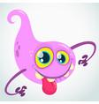 lovely cartoon flying monster blob vector image