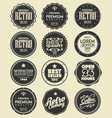 set of retro labels badges vector image