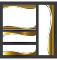 Template gold card element design vector image
