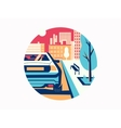 Car on road in city vector image