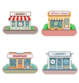 Flower shop laundry barber  bakery newsstand vector image