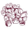 faces doodles vector image