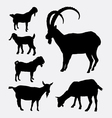 Goat pet animal silhouette vector image