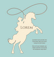 rodeo cowboy silhouette background vector image