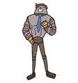 male cartoon robot vector image vector image