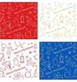 Four Christmas seamless backgrounds great choice vector image