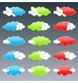 cloudy peeling stickers vector image