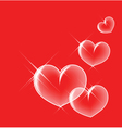 glassy bubble hearts vector image vector image