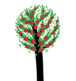 An apple tree vector image