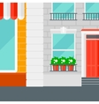 Background of cafe facade vector image