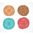Collection of abstract geometrical icons elements vector image