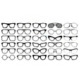 Eye glasses silhouettes vector image