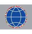 Globe sign with flags vector image