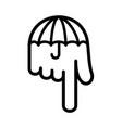 umbrella hand pointer down logo vector image