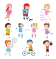 Kids sport games vector image